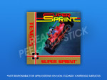 NES - Super Sprint Label