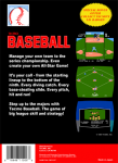 NES - Tecmo Baseball (back)