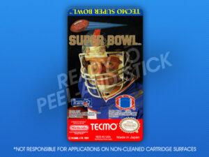 NES - Tecmo Super Bowl Label
