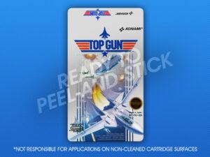NES - Top Gun Label