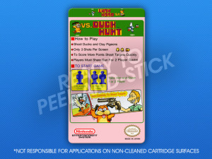 NES - VS. Duck Hunt Label