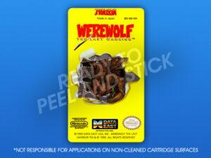 NES - Werewolf: The Last Warrior Label