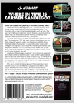NES - Where in Time is Carmen Sandiego? (back)