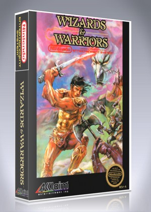 Wizards warriors retro game cases for Wizards warriors