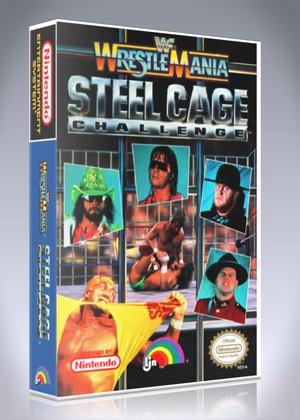Nes Wwf Wrestlemania Steel Cage Challenge Custom Game Case Retro Game Cases
