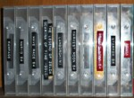 Old cases with spine labels