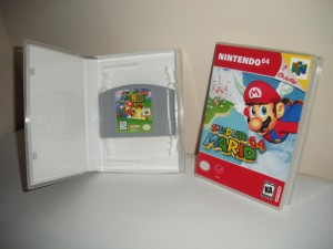 Custom game case displaying cartridge