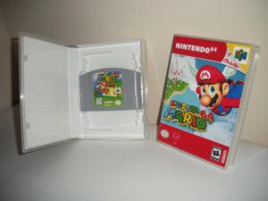 Custom game case displaying cartridge
