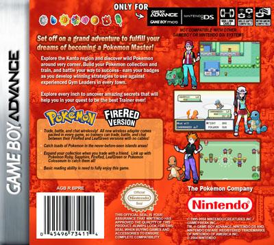 Pokemon Fire Red Version  Retro Game Cases