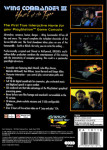 PS1 - Wing Commander III: Heart of the Tiger (back)