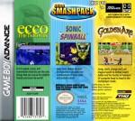GBA - Sega Smash Pack (back)
