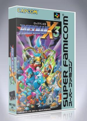 Super Famicom - Rockman X3 Custom Game Case | Retro Game Cases