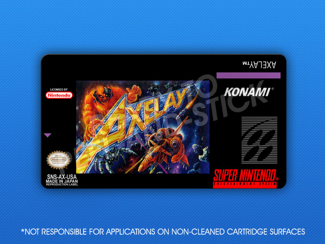 Snes Axelay Label Retro Game Cases