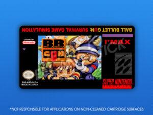 SNES - Ball Bullet Gun: Survival Game Simulation Label