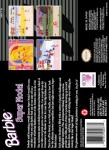 SNES - Barbie Super Model (back)