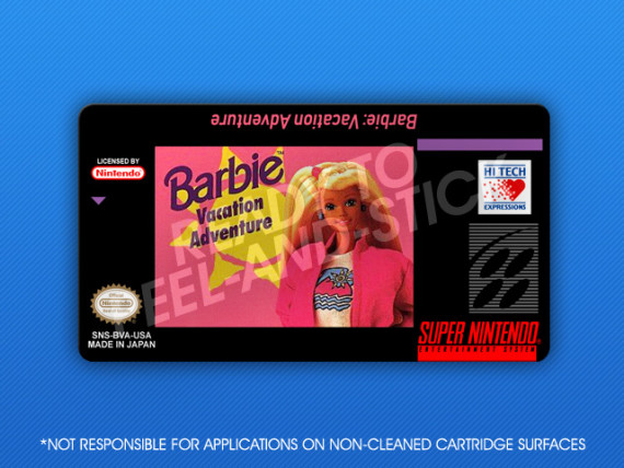 SNES - Barbie Vacation Adventure Label