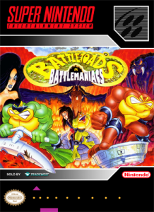 SNES - Battletoads in Battlemaniacs (front)