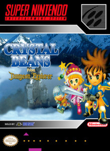 SNES - Crystal Beans From Dungeon Explorer (front)
