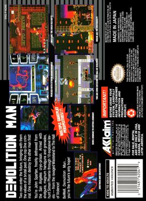 SNES - Demolition Man (back)