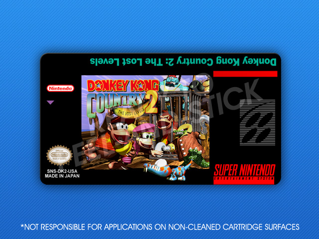 Snes Donkey Kong Country 2 The Lost Levels Label Retro Game Cases