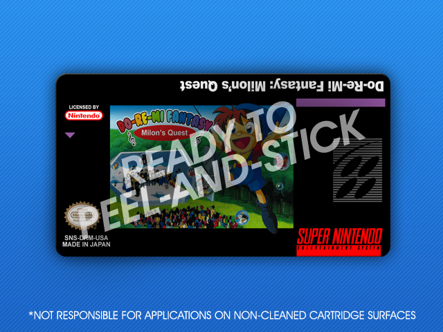 SNES - Do-Re-Mi Fantasy: Milon's Quest Label