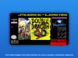 SNES - Double Dragon V: The Shadow Falls Label