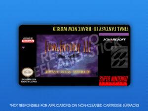 SNES - Final Fantasy III: Brave New World Label