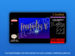 SNES - Final Fantasy V Label