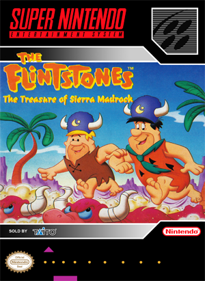 SNES - Flintstones, The: The Treasure of Sierra Madrock (front)