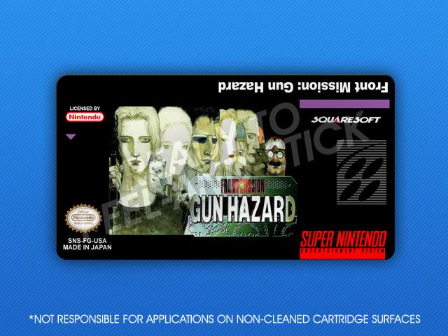 Snes Front Mission Gun Hazard Label Retro Game Cases