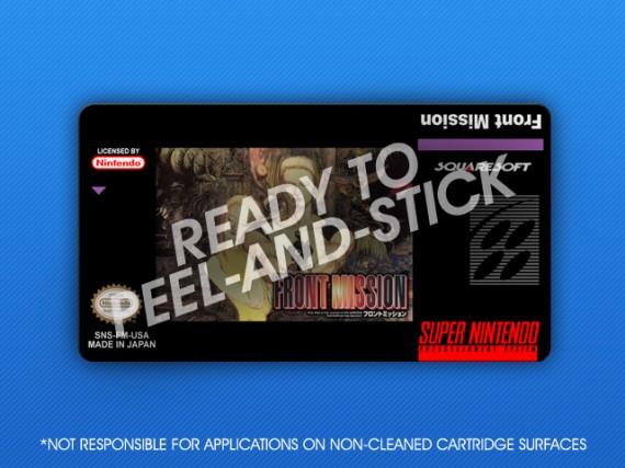 SNES - Front Mission Label