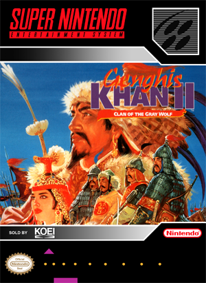 Genghis Khan II: Clan of the Gray Wolf (front)