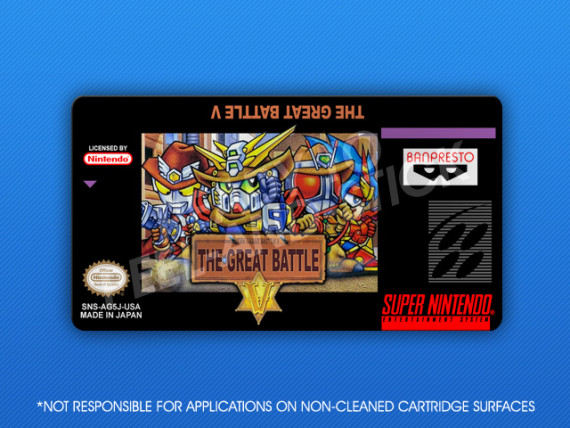 SNES - Great Battle V Label