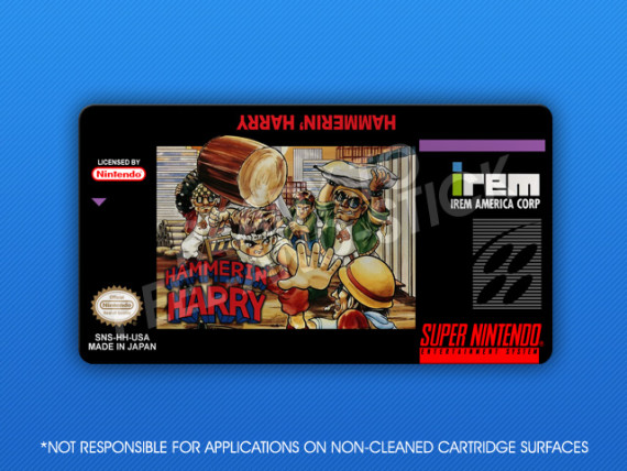 SNES - Hammerin' Harry Label