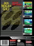 SNES - Jack Nicklaus Golf (back)