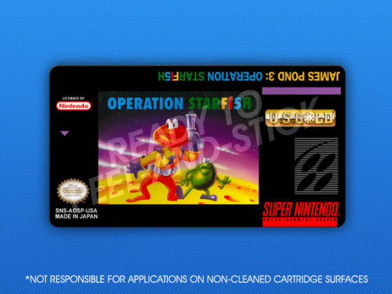 SNES - James Pond 3: Operation Starfish Label