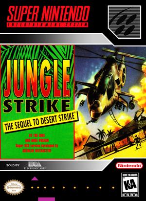 Jungle Strike The Sequel To Desert Strike Retro Game Cases