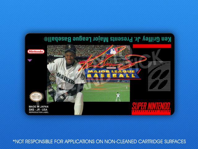 6d5f31c958 SNES - Ken Griffey Jr. Presents Major League Baseball Label   Retro ...