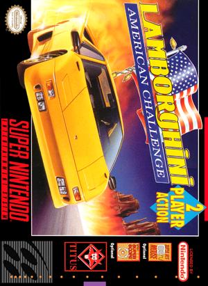 Snes Lamborghini American Challenge Custom Game Case