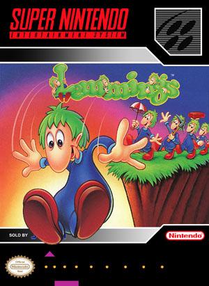 SNES - Lemmings (front)