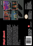 SNES - Magic Sword (back)