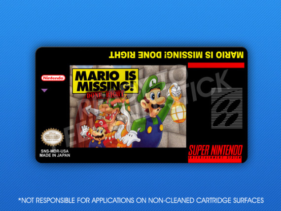 SNES - Mario is Missing! Done Right Label