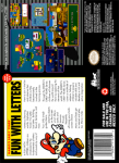 SNES - Mario's Early Years: Fun With Letters (back)