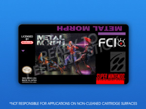 SNES - Metal Morph Label
