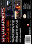 SNES - Ninja Warriors (back)