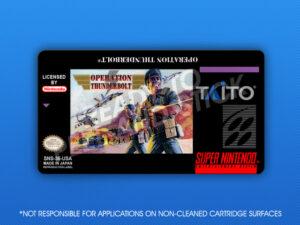 SNES - Operation Thunderbolt Label