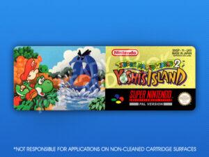 SNES - Super Mario World 2: Yoshi's Island (UKV) Label