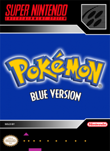 SNES - Pokemon Blue Version (front)
