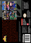 SNES - Mighty Morphin Power Rangers: The Fighting Edition (back)