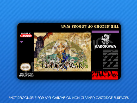 SNES - Record of Lodoss War Label